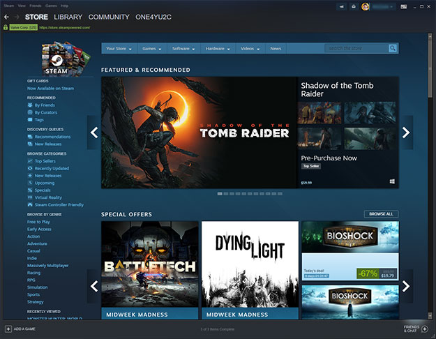 Valve's Steam Play Brings Windows Game Compatibility To
