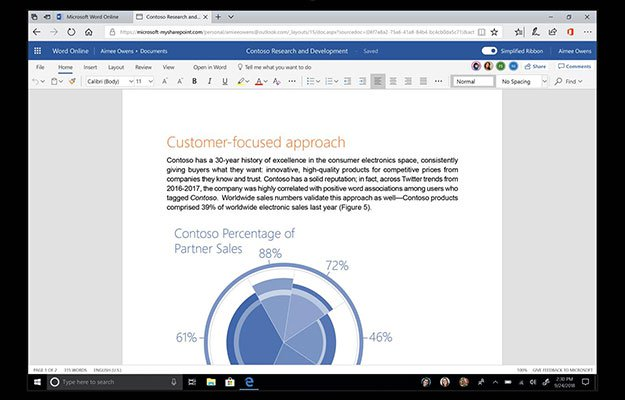 microsoft word online update suface
