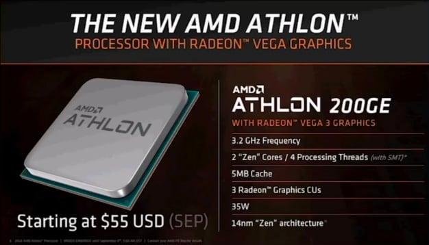athlon 200ge specs
