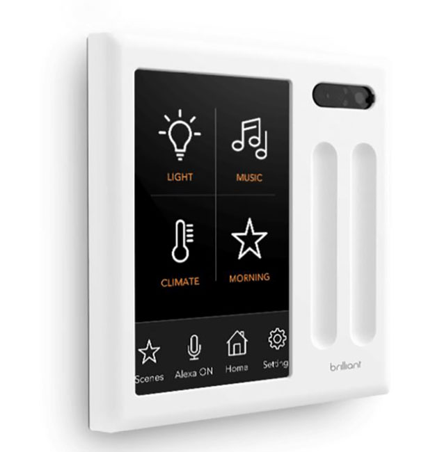 Brilliant S Touch Screen Smart Home Hub With Alexa And