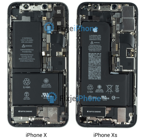 Apple Iphone Xs And Xs Max Teardown Exposes Hidden Notched