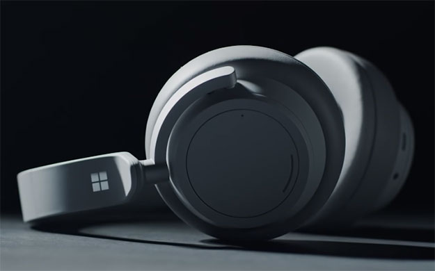 Microsoft S Sleek Surface Bluetooth Headphones Feature 8 Microphones And Cortana Integration Hothardware
