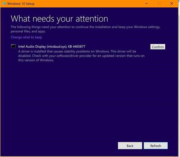 Windows 10 Setup Message