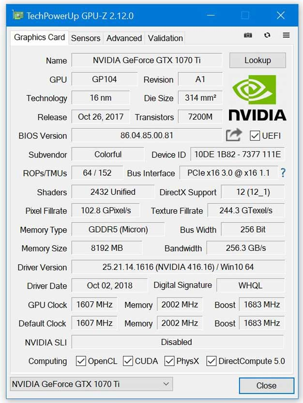 GPU-Z v2 12 0 Calls Out Fake NVIDIA GeForce RTX And GTX