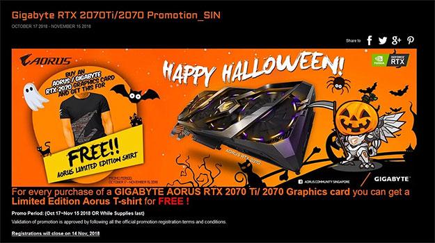 Gigabyte Aorus GeForce RTX 2070 Promo
