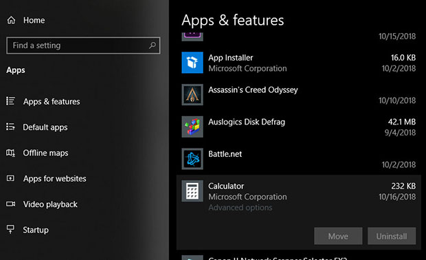 Windows 10 Unable Uninstall Apps