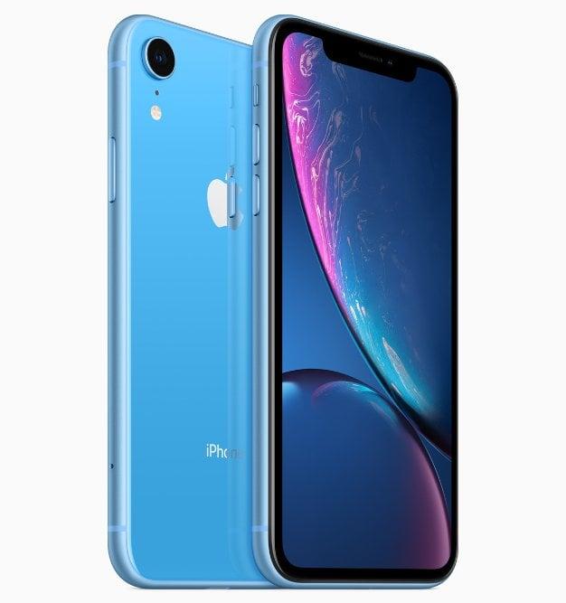 iPhone XR blue back