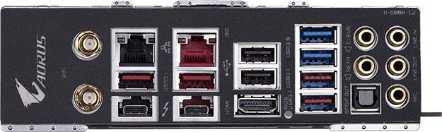 Gigabyte Z390 Aorus Xtreme I/O Panel