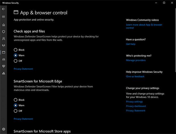 Microsoft Windows 10 Defender Antivirus And Anti-Malware