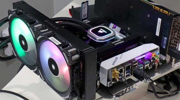 Corsair 110i RGB running