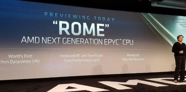 AMD Lisa Su EPYC Rome 7nm CPU