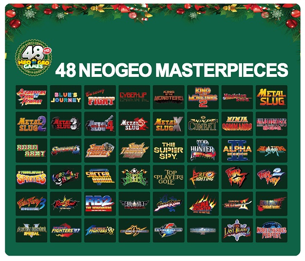 SNK neogeo mini christmas edition games list