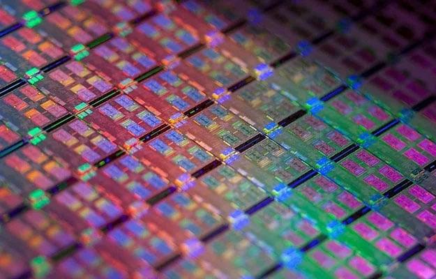 Intel CPU Wafer