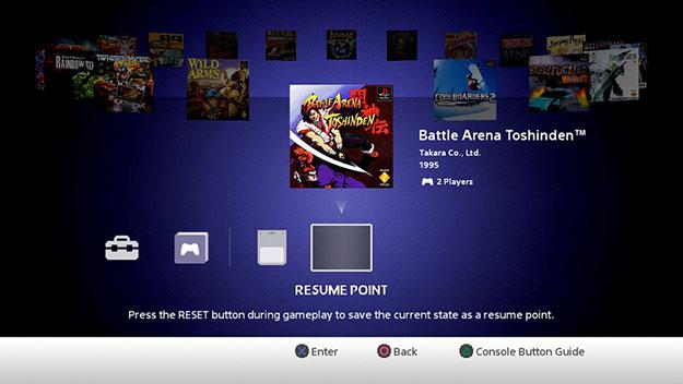 PlayStation Classic UI
