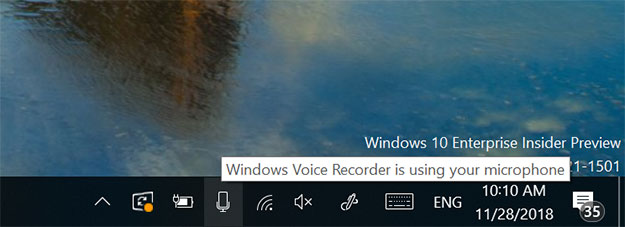 Windows 10 Mic Icon