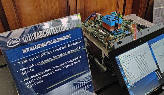Intel Sunny Cove 7Zip Demo