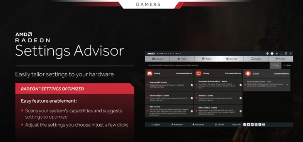 radeon settings advisor