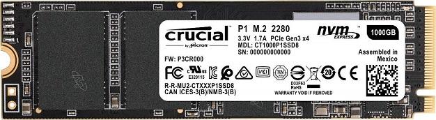 Crucial P1 1TB NVMe