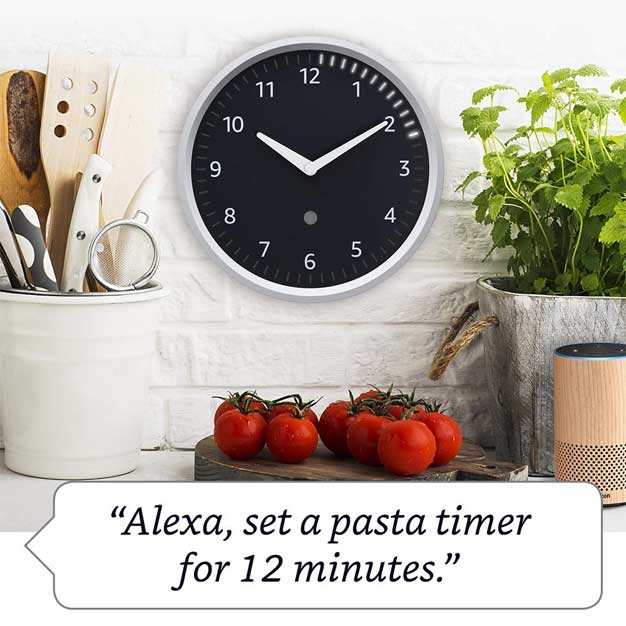 echo wall clock pasta