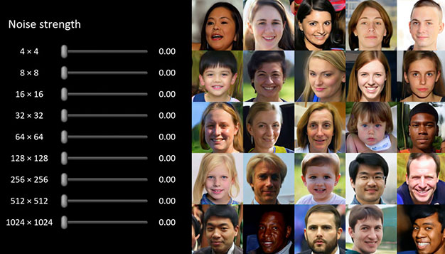 NVIDIA AI Generated Faces