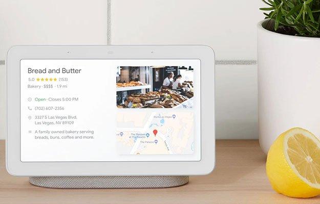 google home hub google maps