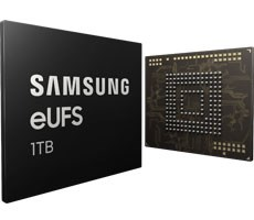 Samsung Unveils 1TB eUFS Storage That Could End Up In Galaxy S10