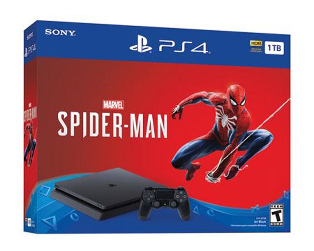 spiderman sony playstation 4 slim 1tb