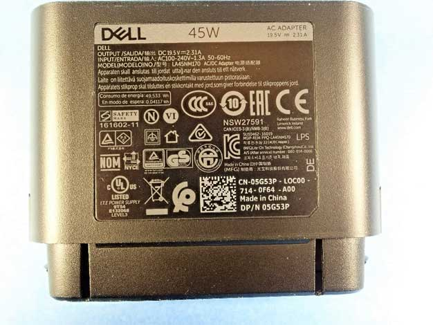 dell adapter label