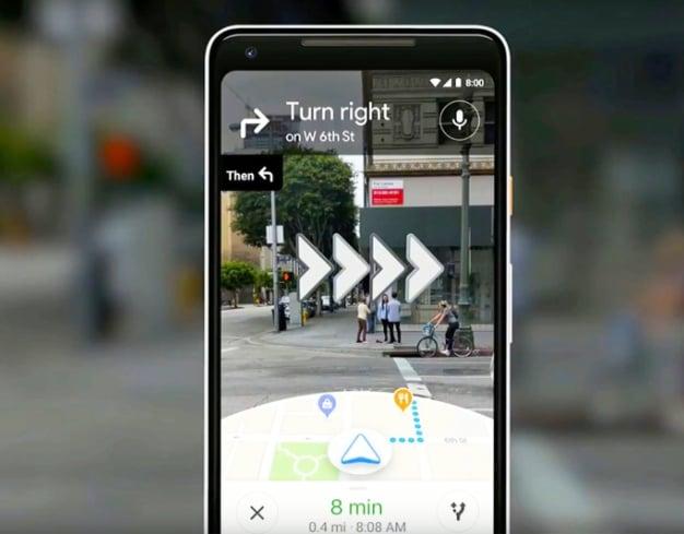 Google Maps Starts Testing AR-Powered Navigation