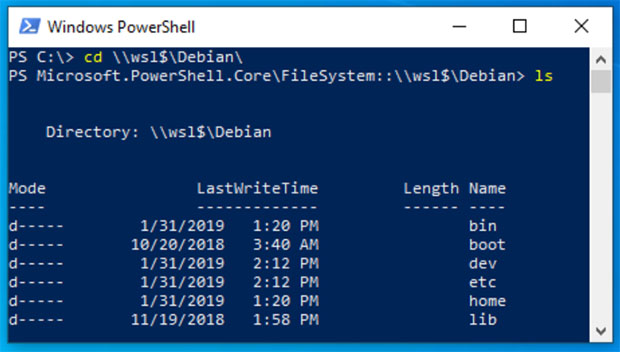 Windows 10 April 2019 Update Brings Linux File Access With