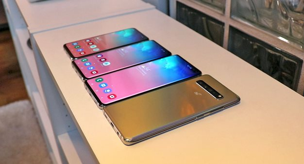 Galaxy S10 5G on end