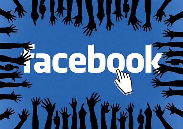 facebook logo hands