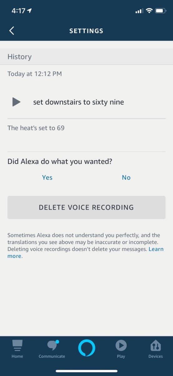 alexa recordings