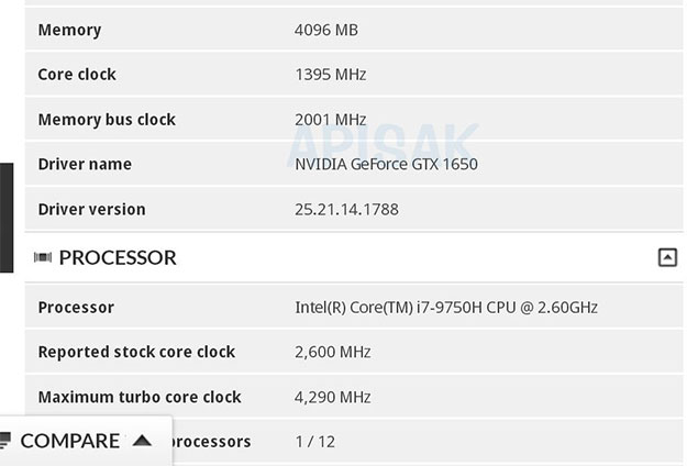 3DMark GeForce GTX 1650