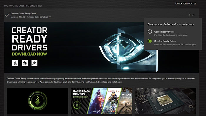 NVIDIA Launches New Creators Ready Drivers For Adobe