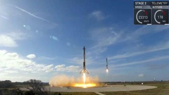 falcon heavy maiden launch 2018