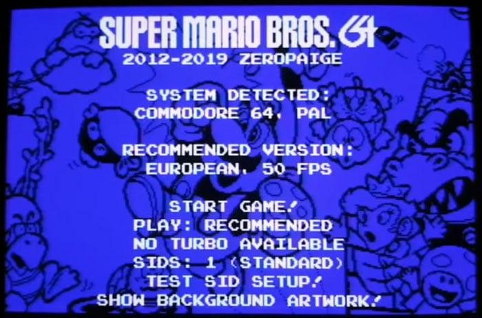 A Wonderful Super Mario Bros Commodore C64 Port Is Under
