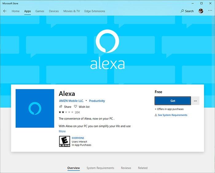 Alexa Microsoft Store