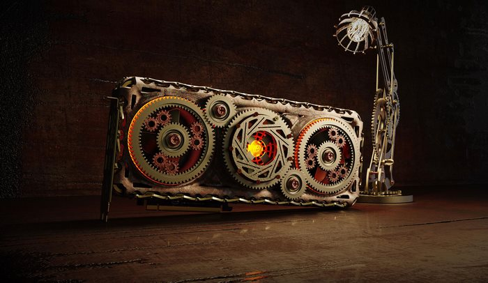 intel odyssey 2035 gpu collection steampunk concept