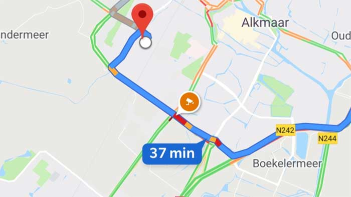 google maps speed cam