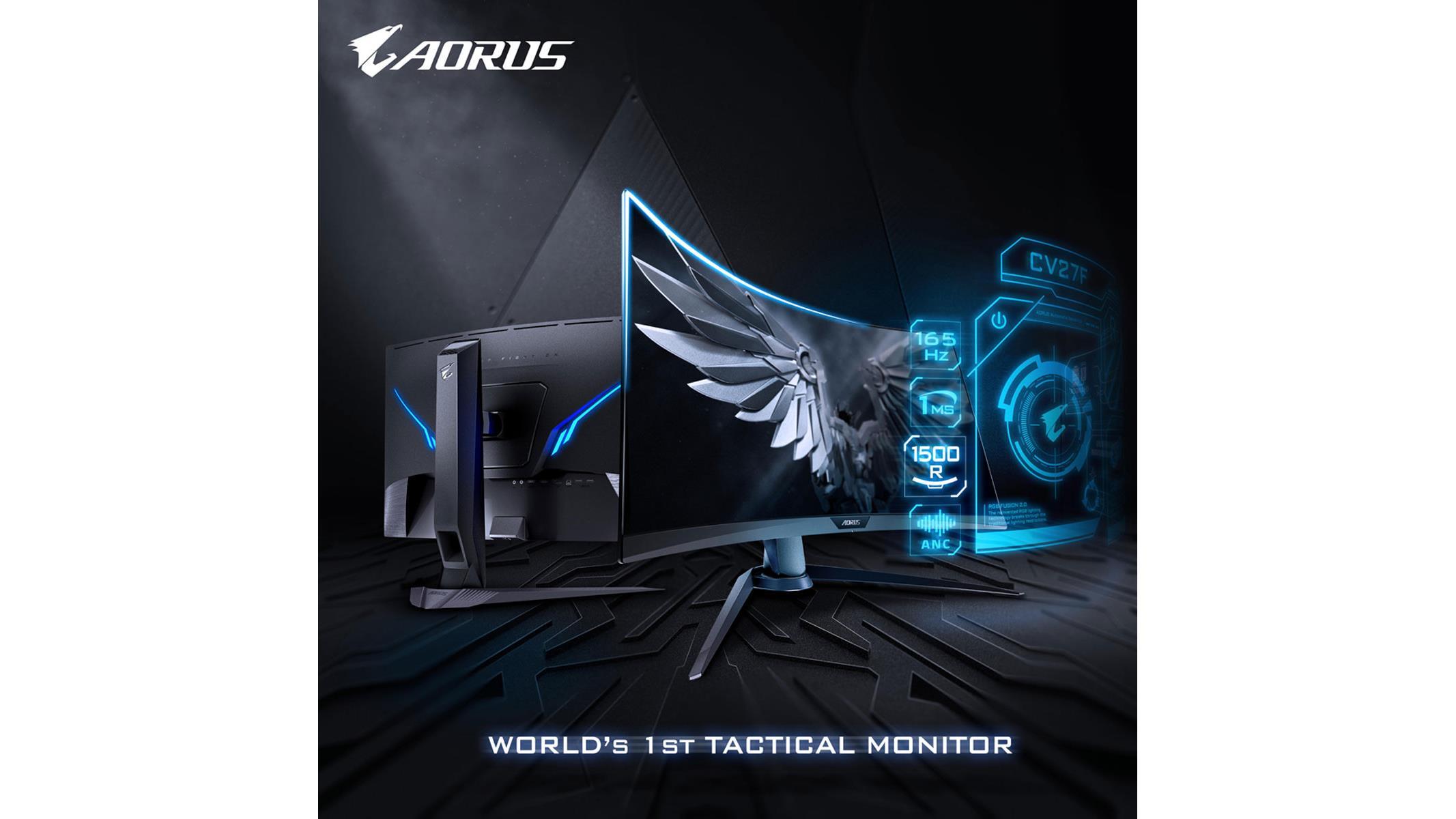 Gigabyte Launches AORUS CV27F 165Hz FreeSync 2 HDR 1500R