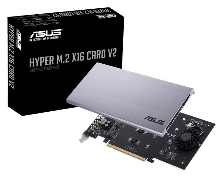 ASUS Debuts Hyper M 2 x16 Card V2 Supporting Four M 2 NVMe SSDs In