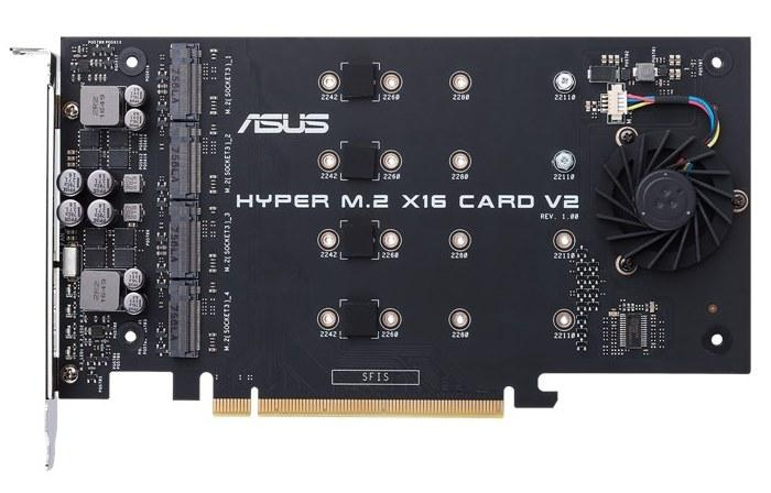 ASUS Debuts Hyper M 2 x16 Card V2 Supporting Four M 2 NVMe