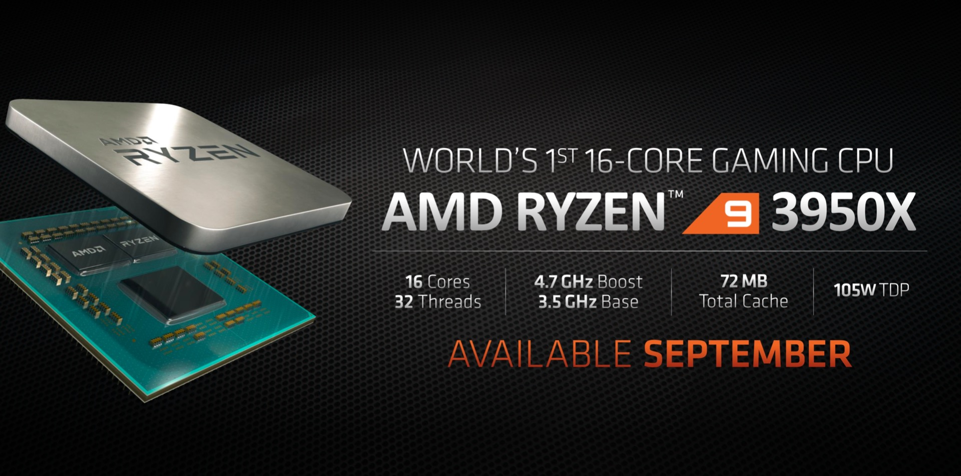 AMD Ryzen 9 3950X Drops 16-Core, 32-Thread Zen 2 Bombshell On PC Gaming Market