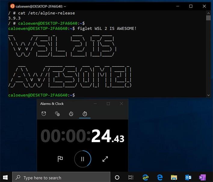 Windows 10 WLS 2 Linux