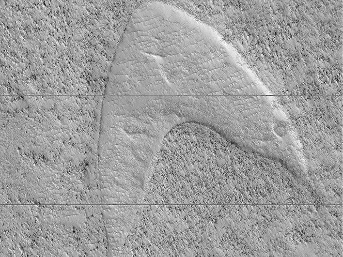 nasa star trek mars sand dune
