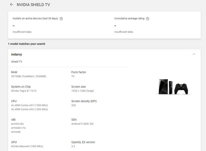 NVIDIA SHIELD TV Code Named MDarcy Leaks On Google Play With Tegra