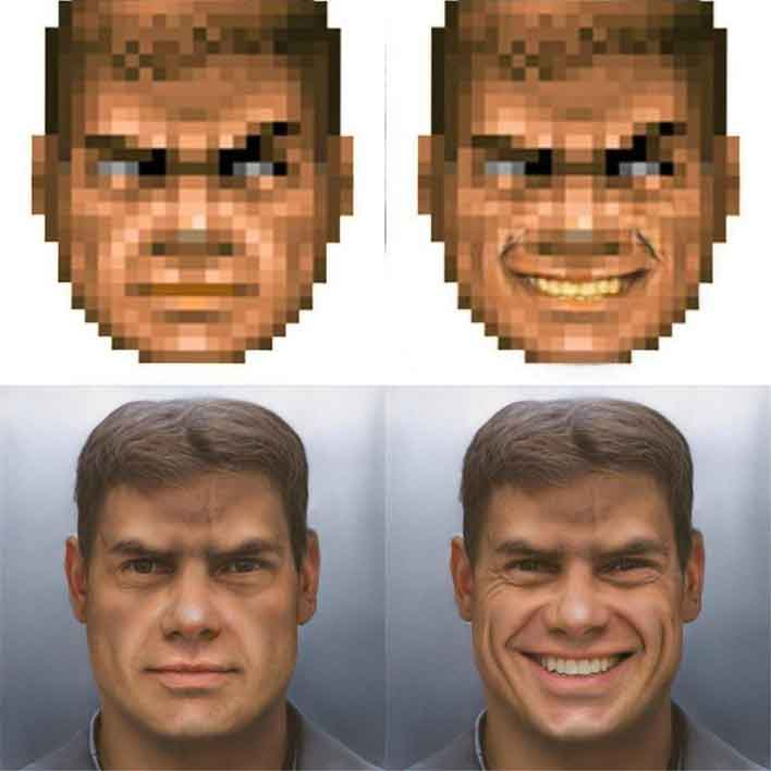 Doom Guy Goes From Pixelated Blob To High Res Human Hero With Ai