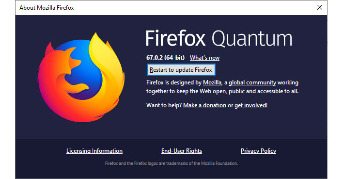 Mozilla Firefox Quantum Update