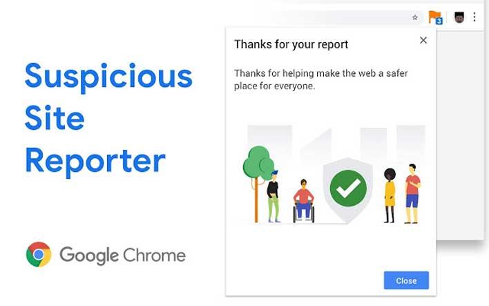 suspicious site reporter thanks